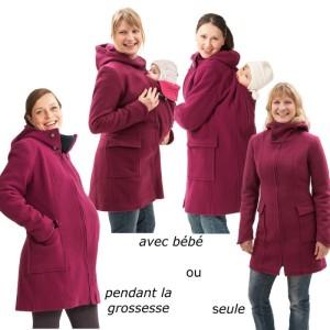 mamalila-manteau-de-grossesse-et-portage-en-laine-fushia